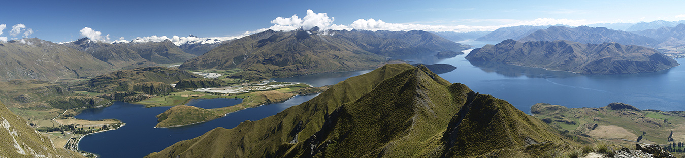 Lake Wanaka from Roys Peak Southern Guides can take you there hiking or walking